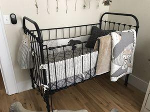 Antique cast iron black crib for Sale in Tampa, FL