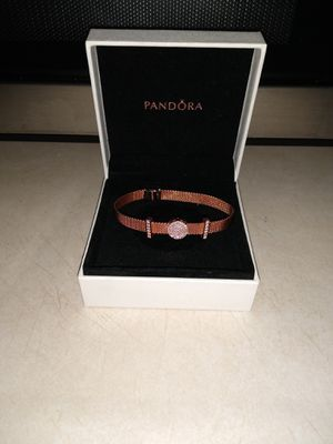 Pandora bracelet with 3 charms rose gold for Sale in Sioux Falls, SD