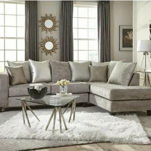 Silver Sectional for Sale in Atlanta, GA
