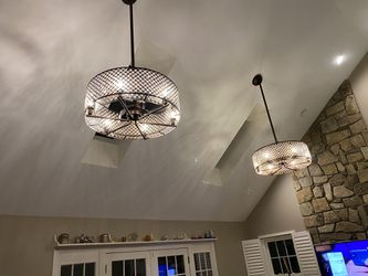 chandelier with fan & remote control - new /$ 450 for Sale in Vienna,  VA
