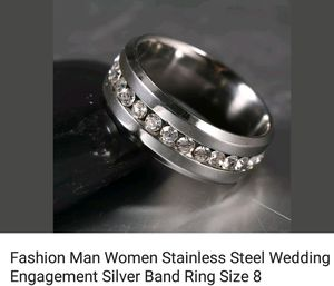 Stainless Steel Silver Band for Sale in Saginaw, MI