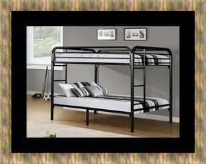 Twin bunkbed frame with 2 mattress for Sale in Fairfax, VA