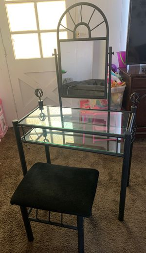 Glass makeup vanity for Sale in San Diego, CA