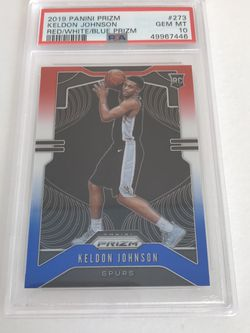 Keldon Johnson RWB Prizm PSA 10 Sports Cards for Sale in Lynnwood,  WA