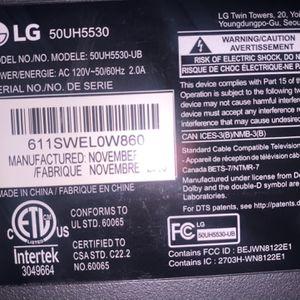 "50"" LG 4k TV Needs Led Strip for Sale in Portland, OR"