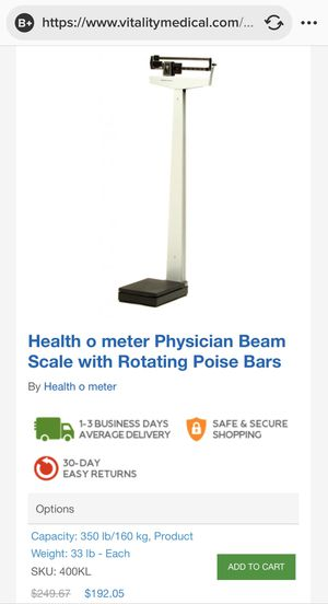 Health o meter Physician Beam Scale for Sale in Corona, CA