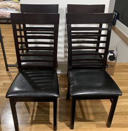 4 Wood Dining Chairs for Sale in Los Angeles,  CA