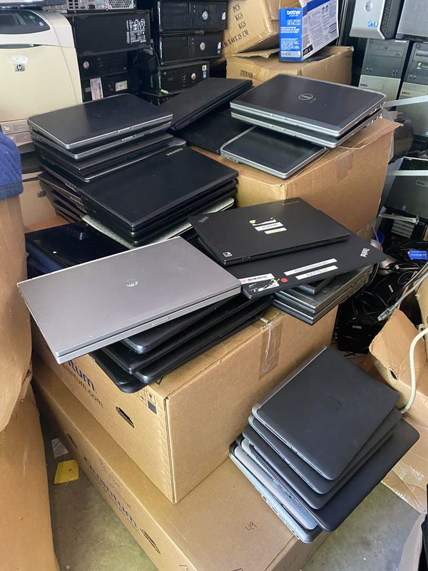 We have two lots of laptops one for $10000 (80 laptops) and the other one $7000 45 laptops. Selling as lot, not individually. There are , dell , hp,