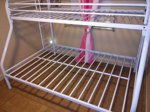 Twin over full bunk beds frame and free delivery New in the box for Sale in Hialeah, FL