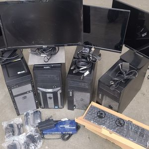 Dell Computer Lot Monitor Keyboard Mouse for Sale in Las Vegas, NV