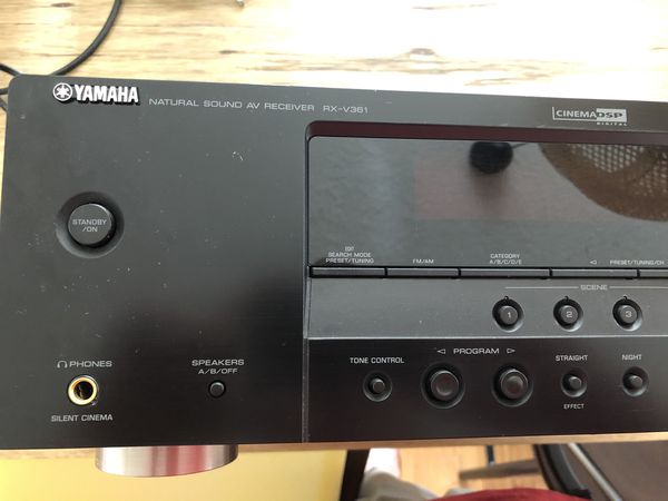 Yamaha RX-V361 audio/video receiver 5.1 Dolby