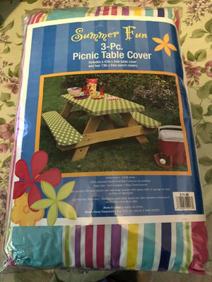 Brand new 3 pc picnic table cover for Sale in Mechanicsburg, PA