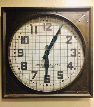 Restoration hardware 1940's gymnasium / factory clock for Sale in San Diego, CA
