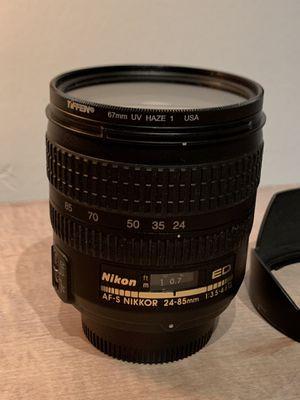 Nikon 24-85 3.5-4.5G Lens for Sale in Miramar, FL