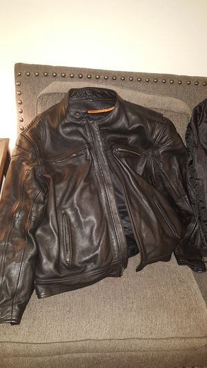Milwaukie leather leather motorcycle riding jacket for Sale in Vancouver, WA
