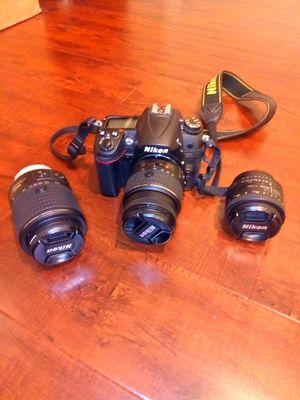 Nikon D7000 with three lenses for Sale in Fountain Valley, CA