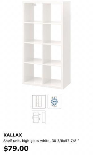 Kallax white shelf for Sale in Atlanta, GA