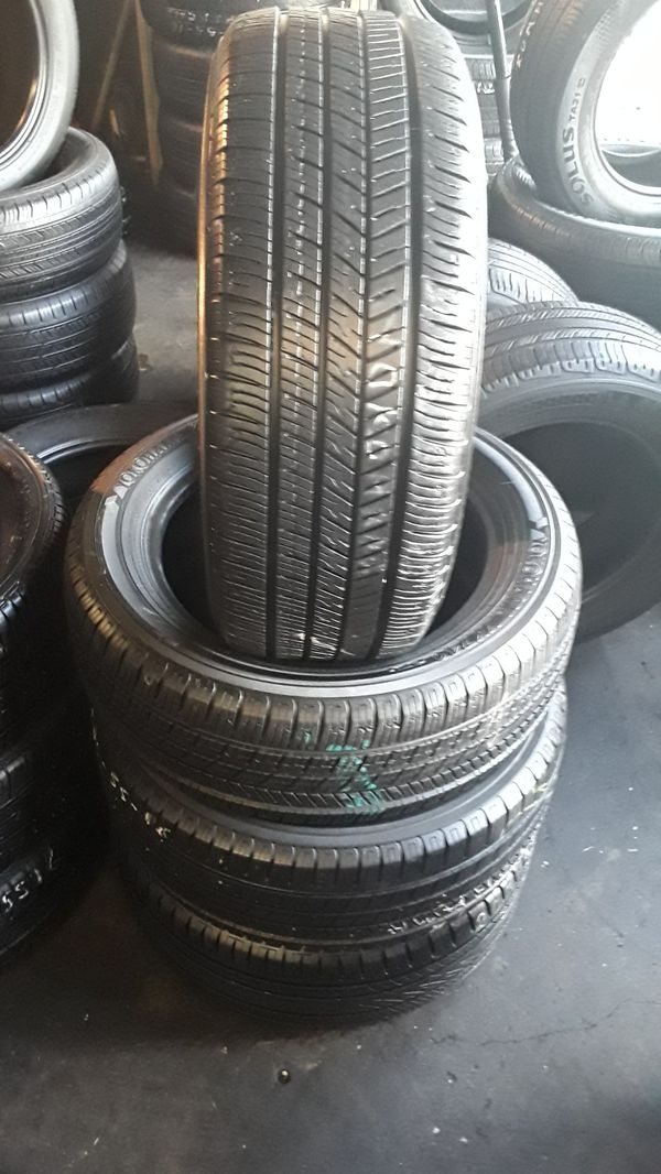 Set of four good used tires semi new 95% life 160 include Profesional instalation and tax