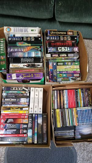 Over 125 PC games hidden objects adventure big box ect for Sale in Camano, WA