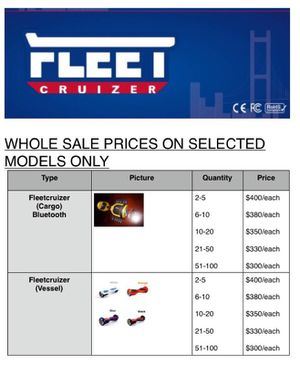 Fleetcruizer Hoverboard Wholesale for Sale in San Francisco, CA