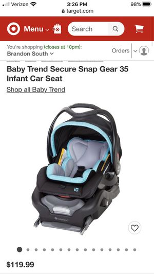 Baby Trend Infant Car Seat & Base for Sale in Riverview, FL