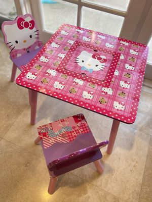 Hello Kitty Toddler Table and Chair for Sale in Huntington Beach, CA