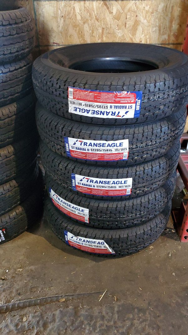 205 75 15 trailer tires $220 set of 4