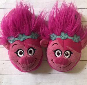 Dreamworld Trolls Poppy Slippers Girls size XL 11/12 for Sale in East Brunswick, NJ