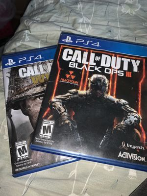 COD WW2 and COD Black Ops 3 Bundle for Sale in Niagara Falls, NY