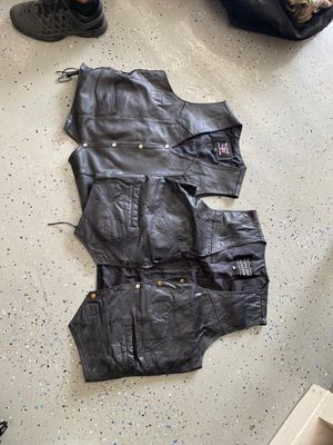 Leather motorcycle vests for Sale in Homestead, FL