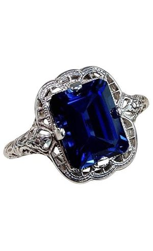 Size 7 Huge Natural 3.5Ct Tanzanite Silver Ring Women Wedding Engagement for Sale in Los Angeles, CA