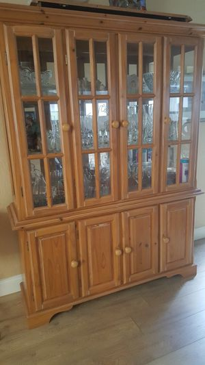 China Cabinet light tone wood. for Sale in Fort Lauderdale, FL