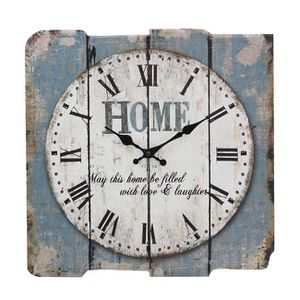Rustic Country Slatted Vintage Antique Soft Blues & Whites Wall Clock for Sale in Hemet, CA