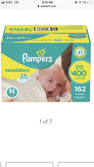 Pampers swaddlers newborn never open for Sale in Catonsville, MD