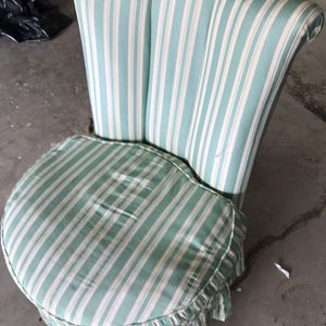 Green Striped Slipper Chair for Sale in Amherst, VA