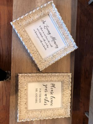 Wedding reception picture frame signs for Sale in Frederick, MD