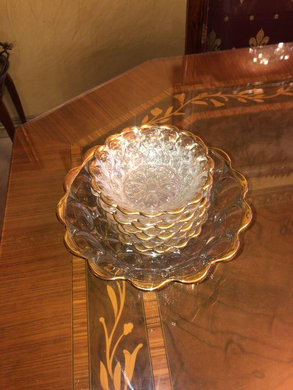 Vintage Crystal bowl set of 9 pieces