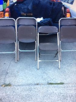 FOLDING CHAIRS ALL $40 for Sale in Tacoma,  WA