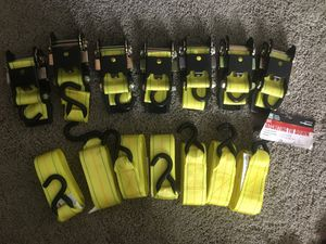 (7-Set) Ratcheting Tie Down (2500LB) for Sale in Pompano Beach, FL