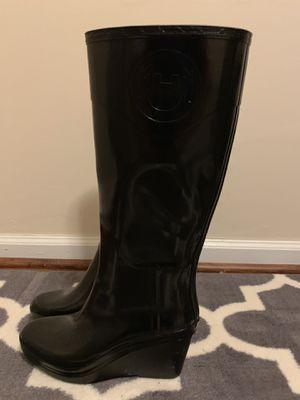 Hunter Black Wedge Rainboots for Sale in Burke, VA