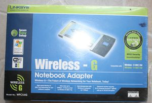 Cisco-Linksys WPC54G Wireless-G Notebook Adapter with Speed Booster for Sale in Kissimmee, FL