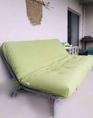 Unique Convertible outdoor futon with new futon shop weatherproof cover for Sale in Lake Grove, OR