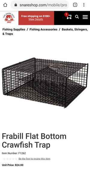2 new crawfish traps and rope for Sale in Puyallup, WA