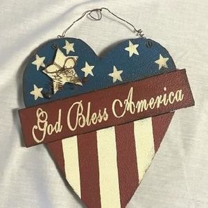 God Bless America Heart Shaped Plaque for Sale in Morrow, GA
