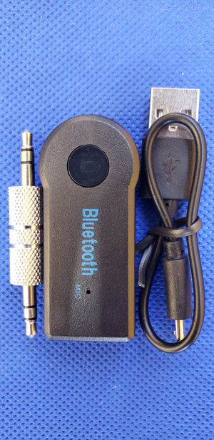 Bluetooth Car Aux Audio Stereo Music Adapter Receiver 3.5mm for Sale in South Gate, CA