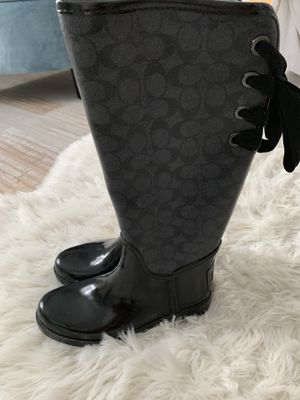 Coach 'Tristee' Waterproof Rain Boot size 7 but fits 7 or 7.5 for Sale in Oviedo, FL