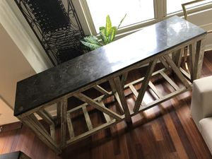 Accepting All Reasonable Offers!! Like NEW RESTORATION HARDWARE Marble & Wood Console/entry/side board Table for Sale in Atlanta, GA