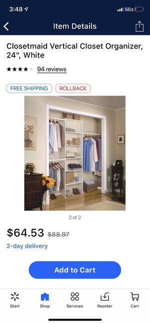 Closet organizer for Sale in Charlotte, NC