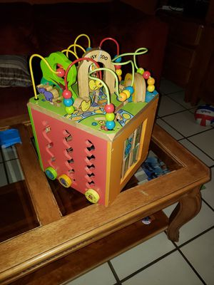 Wooden activity cube zoo for Sale in Miami, FL