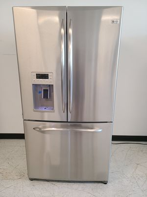 Ge stainless steel French door refrigerator used good condition with 90 days warranty for Sale in Mount Rainier, MD